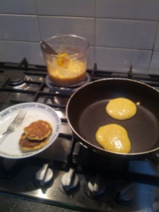 Banana Pancakes (recipe to follow) Photo (c) Megan S, November 2013