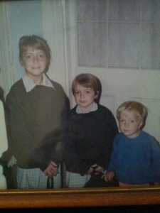 The three of us back in the 90's