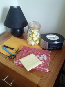 My gratitude corner (bedside table)